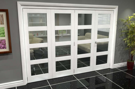 White 4l Roomfold Grande (3 + 1 X 762mm Doors)