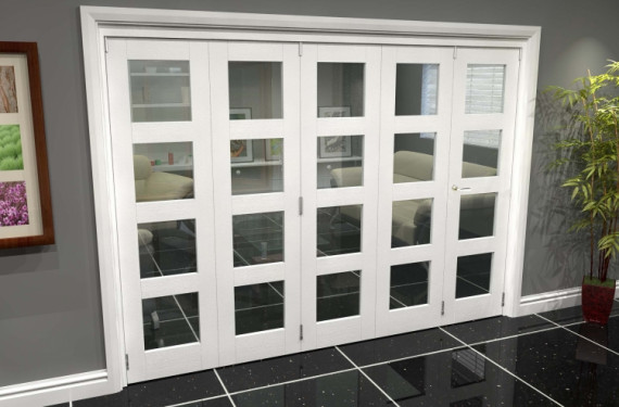 White 4l Roomfold Grande (4 + 1 X 610mm Doors)