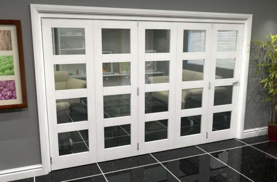 White 4l Roomfold Grande (5 + 0 X 610mm Doors)