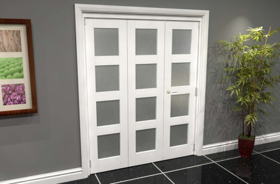 White Frosted 4l Roomfold Grande (2 + 1 X 533mm Doors)