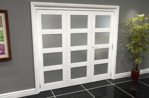 White Frosted 4l Roomfold Grande (2 + 1 X 686mm Doors)