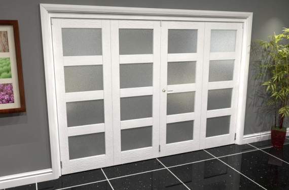 White Frosted 4l Roomfold Grande (2 + 2 X 762mm Doors)