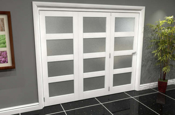 White Frosted 4l Roomfold Grande (3 + 0 X 762mm Doors)