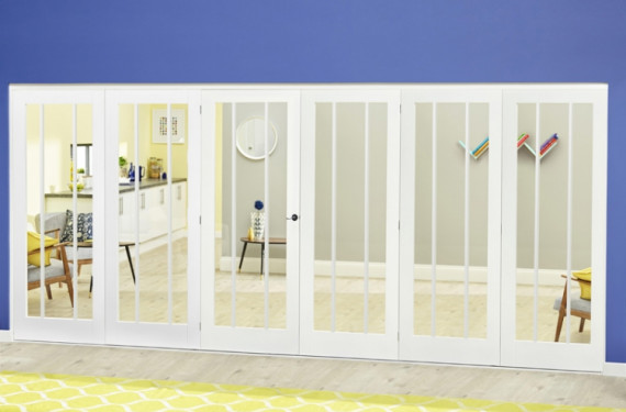White Lincoln Roomfold Deluxe ( 3 + 3 X 610mm Doors)