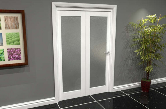 White P10 Frosted Roomfold Grande (2 + 0 X 610mm Doors)