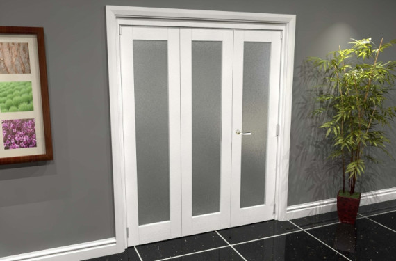 White P10 Frosted Roomfold Grande (2 + 1 X 533mm Doors)