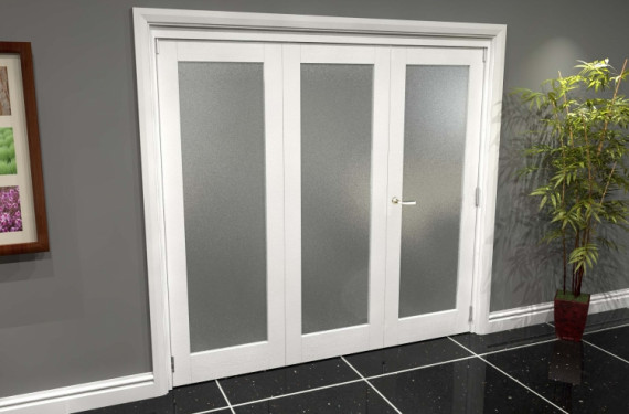 White P10 Frosted Roomfold Grande (2 + 1 X 686mm Doors)