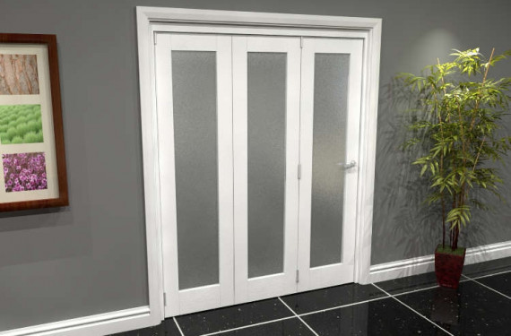 White P10 Frosted Roomfold Grande (3 + 0 X 533mm Doors)
