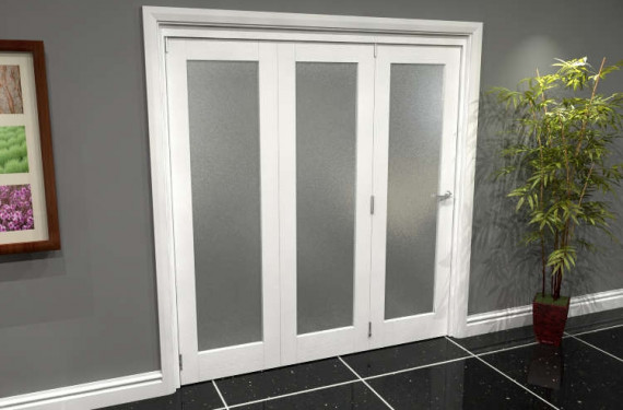 White P10 Frosted Roomfold Grande (3 + 0 X 610mm Doors)