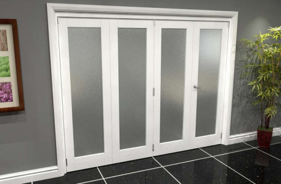White P10 Frosted Roomfold Grande (3 + 1 X 610mm Doors)