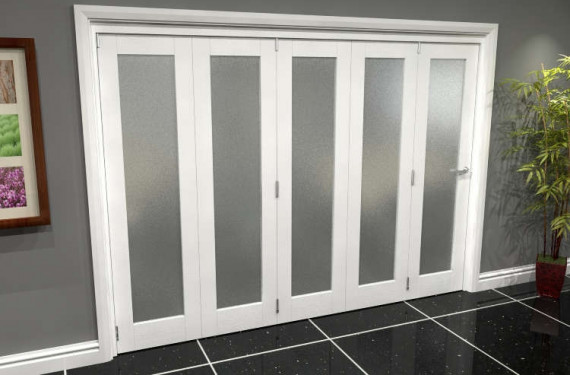 White P10 Frosted Roomfold Grande (5 + 0 X 533mm Doors)