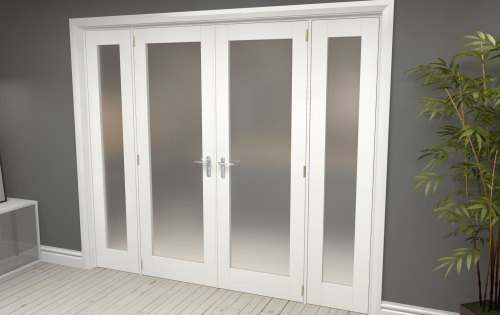 White Primed Frosted P10 Room Divider Range